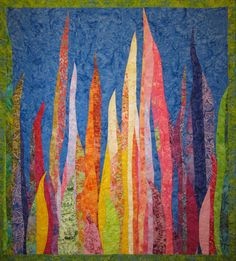 Meadow Lights Art Quilt by JaneHicksQuilts on Etsy, $300.00