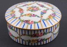 Antique Sevres Porcelain Hand Painted Dresser Box | eBay