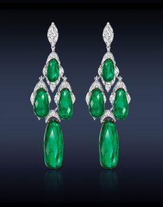 Jacob & Co. Emerald Briolite Earrings