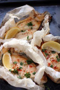 Sweet Chilli and Lemon Fish Parcels