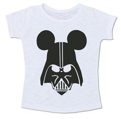 star wars guerra nas estrelas camiseta mickey mouse disney darth vader mistura mash up preto e branco pb