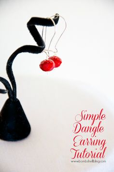 Simple Dangle Earring Tutorial - Simple and affordable!