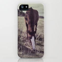 Mountains horses. Retro iPhone & iPod Case by Guido Montañés - $35.00