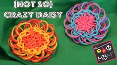 Rainbow Loom Flower Charm - Two Looms Required for the Not So Crazy Daisy!