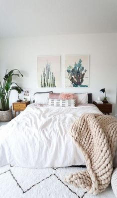 cute boho bedroom design idea