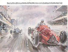 COURSE AUTOMOBILE RACE WIMILLE ALFA-ROMEO GEO HAM ILLUSTRATEUR IMAGE 1948