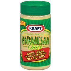 Kraft 100% Real Parmesan Grated Cheese, 8 oz