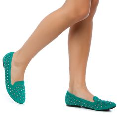 Annie turquoise loafers :}