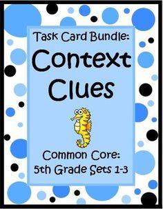 Task card bundle by the teacher next door has 3 sets of common core