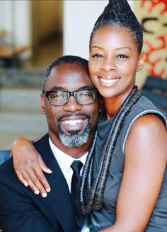 Isaiah Washington and wife, 19 years
