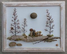 This Pebble Art Rock Pebble Art Family Rock Art Family family is just one of the custom, handmade pieces you'll find in our other assemblage shops. Pebble-art-family made with stone, driftwood and tree branch sprigs. Pebble Art Family Outside on a Log wat Stone Crafts, Rock Crafts, Diy And Crafts, Arts And Crafts, Crafts With Rocks, Pebble Pictures, Art Pictures, Art Pierre, Pebble Art Family