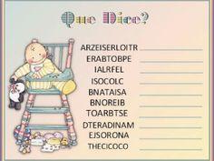 juegos para de baby shower | Baby shower decoration ideas