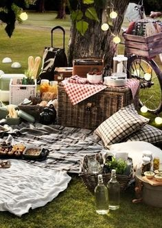 We hebben een grote tuin, een picnic in de tuin als tuinfeest best een leuk idee! Whether you plan to host a picnic or an outdoor dinner party, has stress-free entertaining advice—and fitting inspiration—to make any summer soiree spectacular. Outdoor Dinner Parties, Outdoor Entertaining, Picnic Parties, Party Outdoor, Summer Parties, Picknick Ideas, Picnic Time, Summer Picnic, Night Picnic