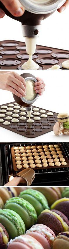 how to make colorful macarons