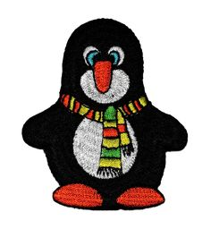 Cute Penguin Cartoon DIY Embroidered Sew Iron on Patch PG-003 ** For more information, visit image link.