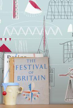 Do I covet this Festival of Britain wallpaper?  No. No. No. Oh yes.