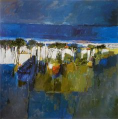 Gordon Smith Pacific Landscape 1961 Paintings, Artists, Embroidery, Landscape, Board, Inspiration, Abstract, Needlework, Needlepoint