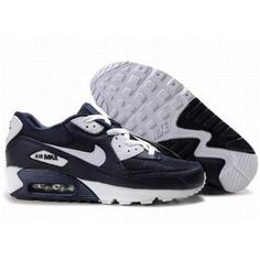 save off 05793 22c9c Ken Griffey Shoes Nike Air Max 90 Navy Blue White  Nike Air Max 90 -  Durable Nike Air Max 90 Navy Blue White sneakers are characterized with  performance.