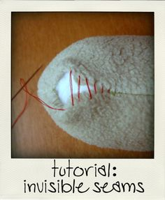 invisible stitches how to