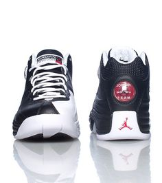 JORDAN Mid top mens sneaker Lace up closure JORDAN jumpman air bubble on  side and under sole Padded .