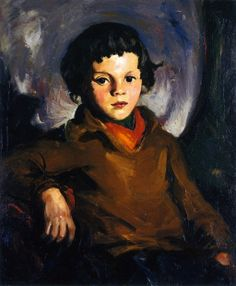 """""""Young Chevass (Mary Ann Cafferty),""""      Robert Henri, 1925, oil on canvas, 24 1/4 x 20 1/8"""", Montgomery Museum of Fine Arts."""