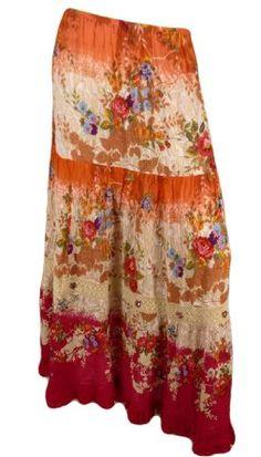 Amazon.com: Forbidden Long/Tall Gypsy Jeweled Maxi Skirt: Clothing