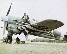 Hawker Typhoon - showing the distinctive black and white stripes of D-Day aircraft. Amazingly all aircraft that were to plfy to France were painted within 24 hours before D-Day with brooms paint brushes, rags to keep the idea secret.