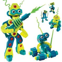 Amazon.com: Bloco Toys Robot Invasion: Toys & Games. Awesome expression on the tall one!