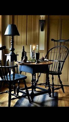 beth's country primitive home decor Colonial Home Decor, Colonial Furniture, Primitive Furniture, Colonial Decorating, Decorating Ideas, Country Furniture, Farmhouse Furniture, Primitive Living Room, Primitive Homes