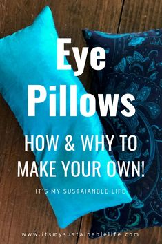 For those who have used a weighted eye pillow, also known as a dream pillow, either in a yoga class or in meditation, know how soothing they can be! These eye pillows are quick to make for yourself and to share as wonderful gifts. Homemade Gifts, Diy Gifts, Diy Yoga Gifts, Sewing Crafts, Sewing Projects, Diy Projects, Meditation Pillow, Yoga Meditation, Yoga Accessories