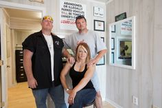 Ron, Amy & Bobby looking regal in their shop