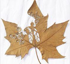 Arte en hojas