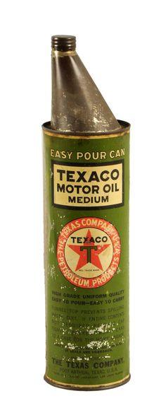 Texaco Two Quart Easy Pour Can.
