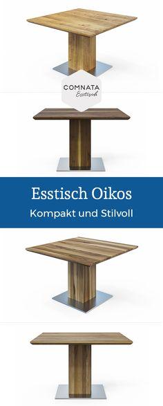 Massivholz Esstisch Kronos mit Säule bei COMNATA Esstisch entdecken ...