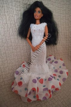 Free barbie tutorial: sheath dress with ruffled base - laramicelle