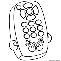 Print Cartoon Remote Shopkins Season 4 Coloring Pages Free Printable Shopkin