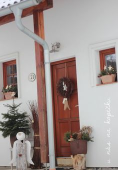 U nás na kopečku Christmas Inspiration, Ladder Decor, Diy And Crafts, Pergola, Christmas Decorations, Xmas, Countryside, Home Decor, Architecture