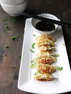 Homemade Gyoza and the Best Dipping Sauce Ever - can use rice papers for gluten free