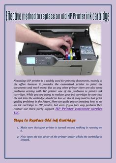 While you are going to replace your ink cartridge be sure that the ink into the cartridge should be low or else it may lead to bad print quality problems in the future......
