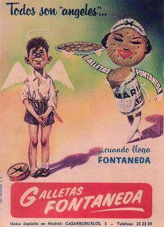 Aguilar, el pueblo de las galletas. Retro Ads, Vintage Advertisements, Vintage Ads, Vintage Posters, Vintage Cartoon, Old Ads, Light And Shadow, Cool Designs, Nostalgia