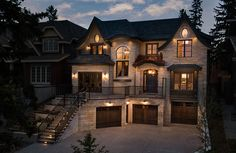 What do you think of this luxurious stone home in Calgary, Alberta, Canada-We make a living by what we get, but we make a life by what we giveTag your photos with Dream House Interior, Luxury Homes Dream Houses, Dream Home Design, Modern House Design, Dream Homes, Dream House Plans, Luxury House Plans, House Goals, Home Fashion