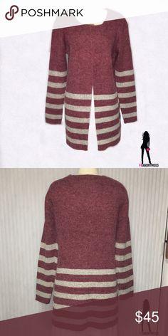 Italian Sweater Coat L New with tag stunning masala colored Italian knit sweater coat. Size L Jackets & Coats