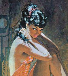The Girl Upstairs: Pin-up Art by Robert McGinnis Robert Mcginnis, Pinup Art, Art Vintage, Retro Art, Art Pulp Fiction, Fotos Pin Up, Arte Sci Fi, Whatsapp Wallpaper, Arte Pop