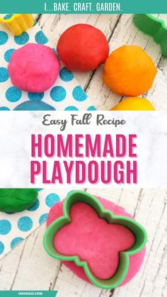 Easy Fall Crafts, Easy Crafts For Kids, Projects For Kids, Teen Crafts, Easy Playdough Recipe, Homemade Playdough, Autumn Activities For Kids, Rainy Day Activities, Dollar Tree Crafts