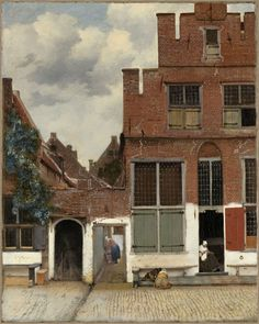 View of Houses in Delft known as The Little Street Het straatje painted by Johannes Vermeer around 1658