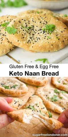 This easy Keto naan recipe makes pillowy-soft fluffy flatbreads that taste just as good as the real thing! Theyre perfect for mopping up your favourite Indian curry. Low carb gluten free and egg free! Free Keto Recipes, Low Carb Dinner Recipes, Ketogenic Recipes, Keto Dinner, Diet Recipes, Healthy Recipes, Pizza Recipes, Bread Recipes, Banting Recipes
