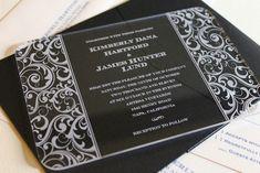 Engraved Wedding Invitations on Wood, Marble and Acrylic Acrylic Wedding Invitations, Elegant Wedding Invitations, Wedding Stationary, Wedding Cards, Our Wedding, Wedding Ideas, Wedding Inspiration, Nashville Wedding, Crystal Wedding