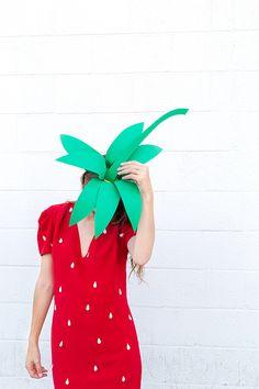 Easy No-Sew DIY Strawberry Costume