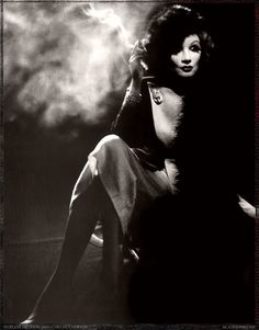 Marlene Dietrich photo by Helmut Newton - vintage inspired pin-up photography