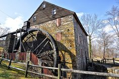 Rock Run Mill was built in 1794 by John Stump in Hartford County, Maryland.  It is one of the oldest mills still standing in Maryland and was used continuously until 1954.
